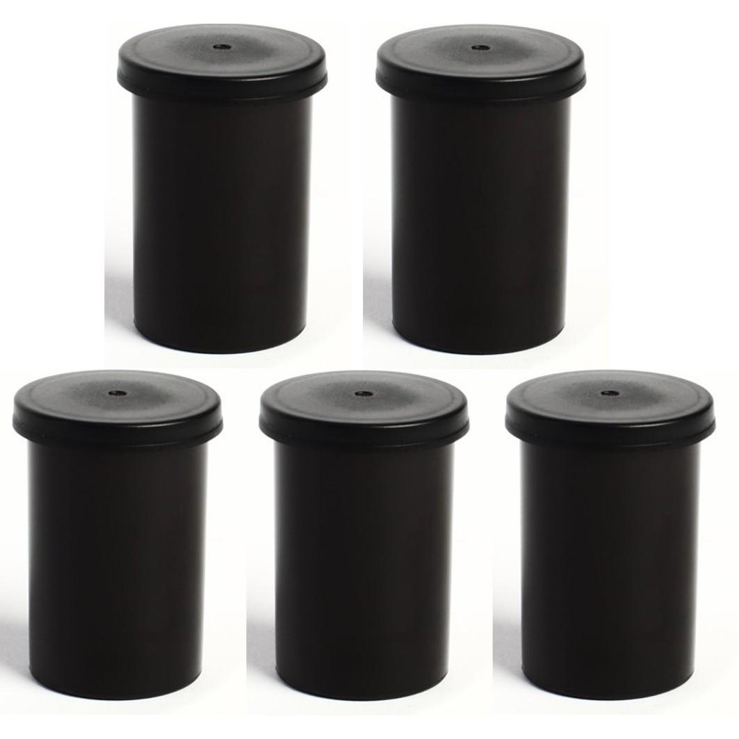 25 x  Black Geocaching Filmdosen Rascheldosen  Deckel Film Canisters with Lid